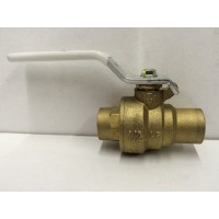 "Valve Ball 1/2"" Swt Full Port Brass Milwaukee / Hammond / Lead Free upba-485b/8911"